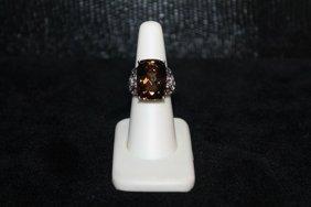 Beautiful Smokey Topaz Ring. 310j