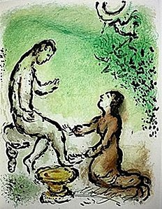 "Lithograph ""ulysses And Euryclea"" By Chagall From The"