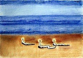 """seascape"" Pastel On Paper - Rene Magritte"