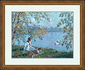 Afternoon By The Lake By Edward Dufner