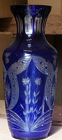 Fancy Blue Turkey Crystal Vase