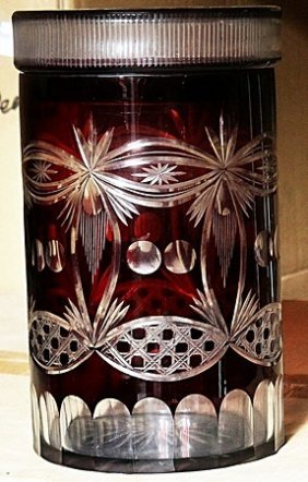 Fancy Red Turkey Crystal Cookie Jar