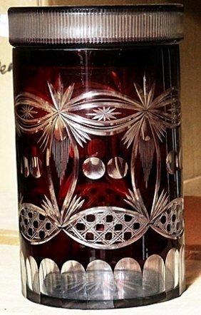 Fancy Red Turkey Crystal Cookie Jar