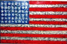 Jasper Johns - The Flag No 5