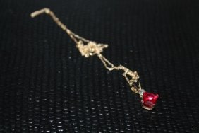 Beautiful Garnet & Diamond Necklace.