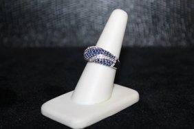 Beautiful Tanzanite With Diamonds Ring. 303j
