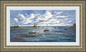 Bridgeport Harbor By Robert Lui