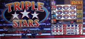 "Vintage Collectible Casino Slot Machine Glass ""triple"