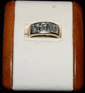 Lady's Fancy Aquamarine Silver Ring.