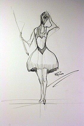 Original Pencil Sketch On Paper. Signed Preiss