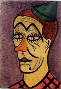 The Clown - Pastel On Paper - Bernard Buffet