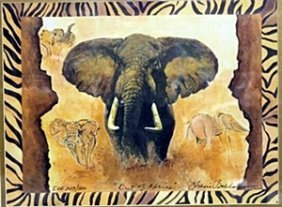 """Lithograph """"out Of Africa"""" After Sharie Hatchett"""