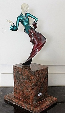 Teresa - Bronze And Ivory Sculpture By Chiparus