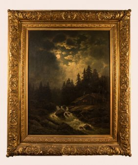 Nocturnal Landscape - Signed 'marteau'
