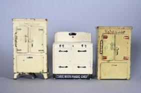Two Refrigerators / Stove Still Bank