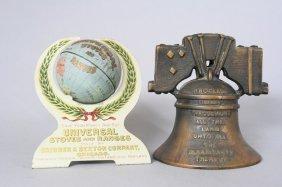 Harper Liberty Bell / Universal Stove Globe Still Bank