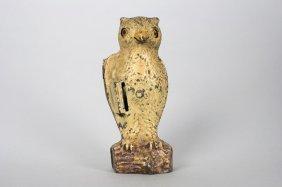 Owl, Slot In Book Mechanical Bank