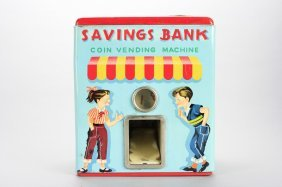 Savings Bank Vending Machine Mechanical Bank