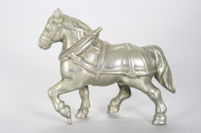 Workhorse; Nickel Plated Still Bank