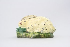 Rabbit In Cabbage Mechanical Bank