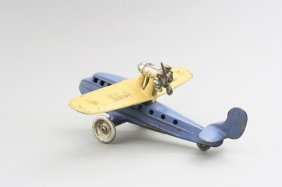 Seagull Airplane, Blue And Cream Cast Iron