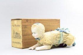 Crawling Baby Boy With Box