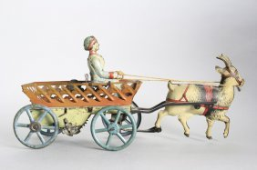 Goat Cart With Girl