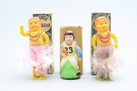 Three Celluloid Toys - Boxed Japanese