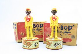 "Two ""beebop"" Jiggers-boxed Louis Marx"
