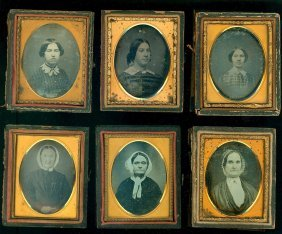 4 Sixth Plate Early Daguerreotypes