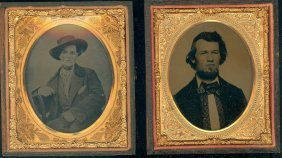 Two Sixth Plate Ambrotypes From Texas