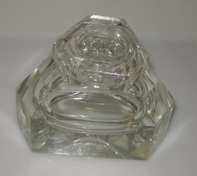 Crystal Triangular Inkwell