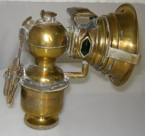 Carbide Bicycle Lamp Circa 1890