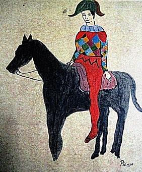 Pablo Picasso - Arlequin A Cheval