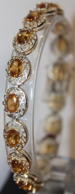 Gold Unisex Sapphire Bracelet