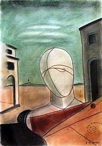The Gladiator - Pastel Drawing - Giorgio De Chirico