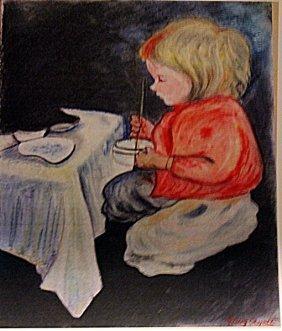 Mary Cassatt - Child In A Table