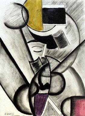 Portrait Of Carlos 50' - Drawing - Gino Severini