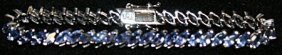 Very Fancy Tanzanite Sterling Silver Bracelet.