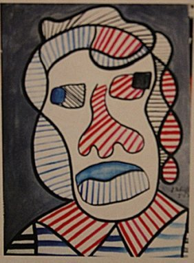 Jean Dubuffet - Woman Head
