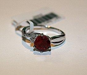 Stunning Womens Ruby & Diamond Ring