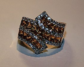 Exquisite Citrine & Diamond Ring