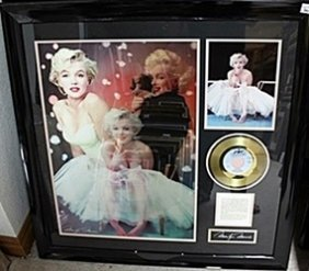 Signed Giclee Portrait Of Marilyn Monroe With Gold