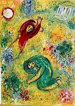 Lithograph By Marc Chagall- The Trampled Flowers