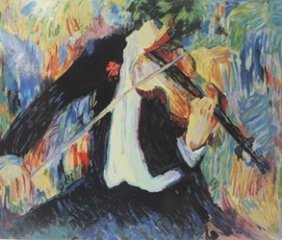 """the Violinst"" After Barbara A. Wood"