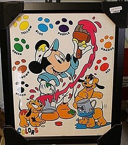 Mickey & Pluto's Pups A Painting