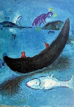 Lithograph By Marc Chagall- The Dead Dolphin And The