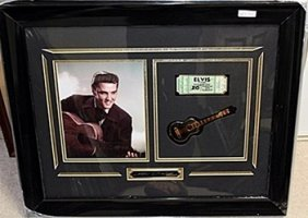 Photo Of Elvis Presley & Concert Ticket Ar5714