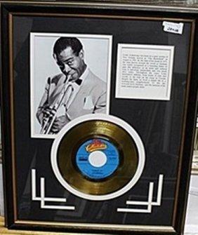 Louis Armstrong Bio & Gold Record Ar5745