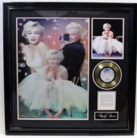 Marilyn Monroe Hologram W/ Gold Plated Record